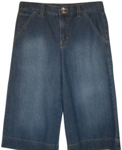 Gloria Vanderbilt Denim/Jean Medium Wash Bermuda Shorts Blue