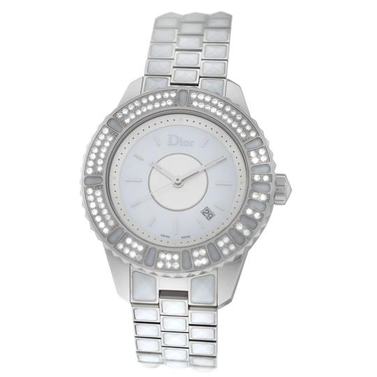 Preload https://img-static.tradesy.com/item/23578945/dior-silver-new-lady-christian-christal-cd11311cm002-diamond-mop-ss-quartz-watch-0-0-540-540.jpg