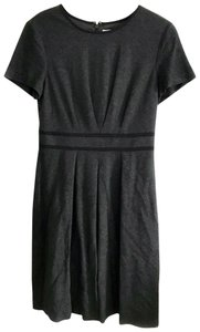 Trina Turk Pleats Short Seeve Fit And Flare Dress