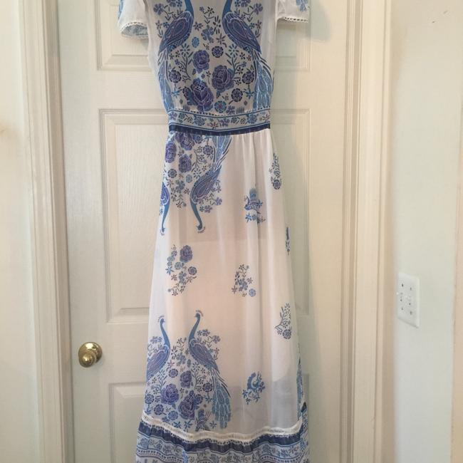 blue/white Maxi Dress by No Brand