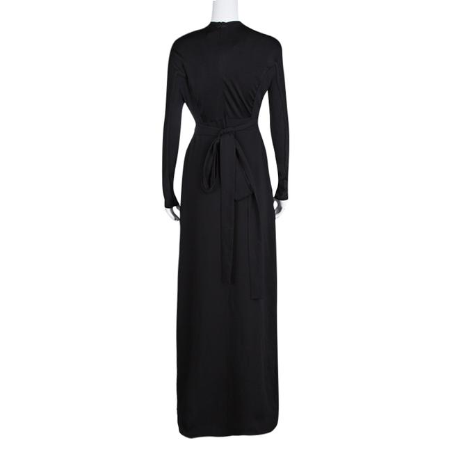 Black Maxi Dress by ISSA London Contrast Panel Detail