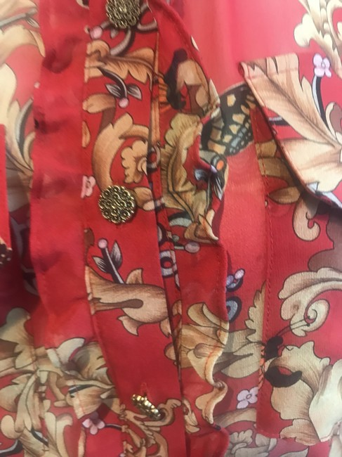 The Kooples Silk Butterfly Top RED