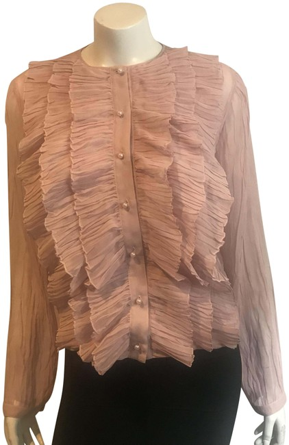 Preload https://img-static.tradesy.com/item/23579113/givenchy-pale-pink-3518-crepe-ruffled-semi-sheer-button-blouse-size-8-m-0-1-650-650.jpg