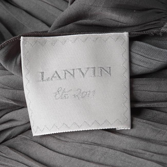 Grey Maxi Dress by Lanvin Draped Belted Maxi