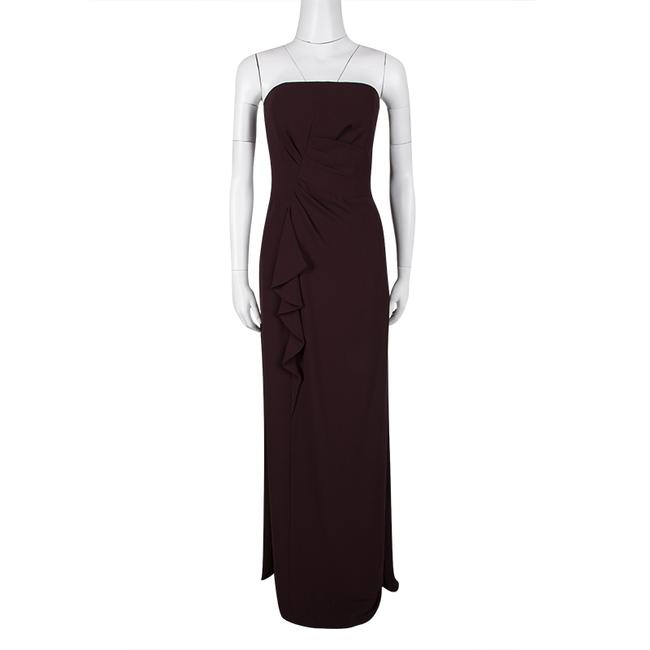Burgundy Maxi Dress by Boss by Hugo Boss Draped Strapless Maxi