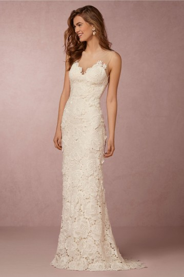 Catherine Deane for BHLDN White Lace Ivory Jolie Gown Casual Wedding Dress Size 2 (XS)