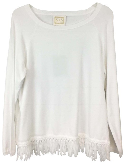 Preload https://img-static.tradesy.com/item/23579447/sail-to-sable-fringe-size-large-white-sweater-0-1-650-650.jpg