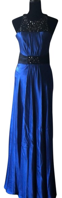 Preload https://img-static.tradesy.com/item/23579486/blue-embellished-gown-long-formal-dress-size-2-xs-0-1-650-650.jpg