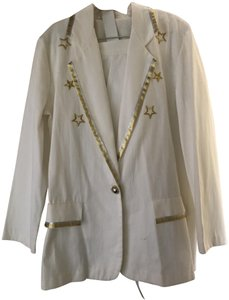 Lew Magram Lew Magram Collection Shorts and Blazer W/Embroidered Stars