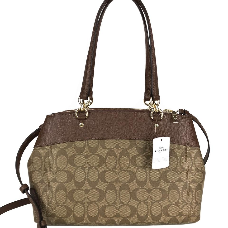 c799eb24e4 Coach Brooke Signature Coated Carryall with Shoulder Strap Multicolor  Canvas Cross Body Bag