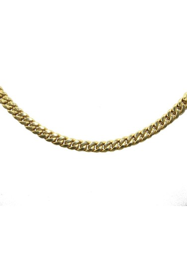 Other Yellow Gold 14K Miami Cuban Link Chain for Men