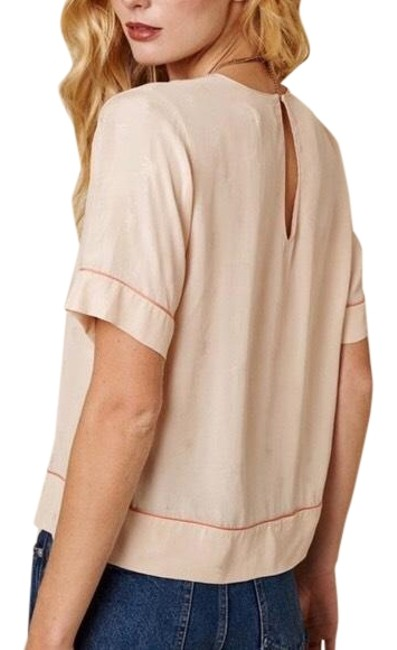 Preload https://img-static.tradesy.com/item/23579615/sincerely-jules-blush-palms-blouse-size-8-m-0-2-650-650.jpg