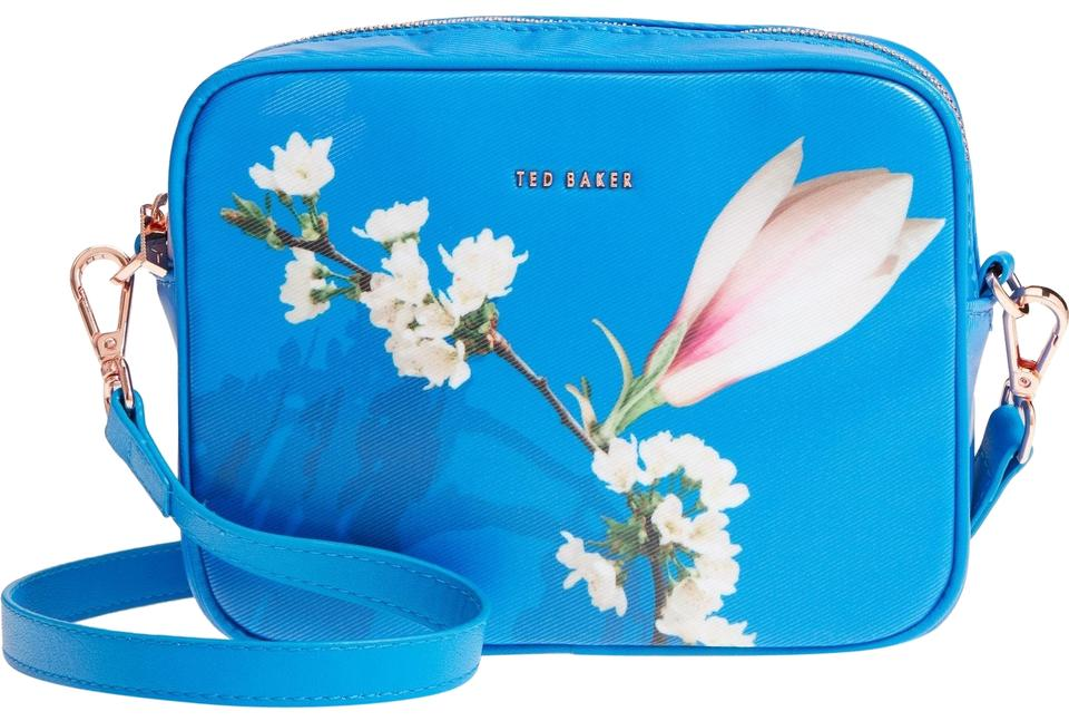 d6af1cebc Ted Baker Camera Harmony Floral Coated Canvas Matching Pouch Cross Body Bag  Image 0 ...