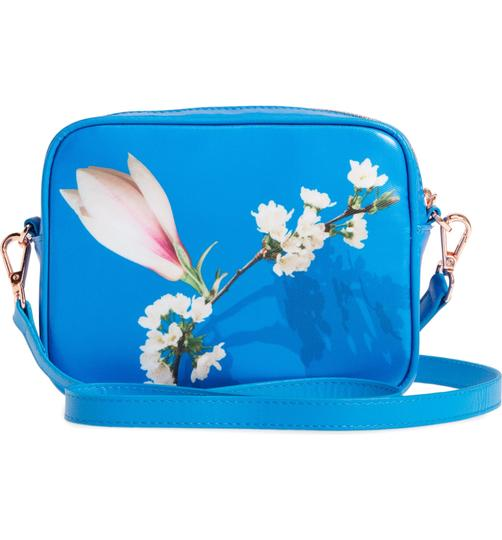 Ted Baker Camera Harmony Floral Coated Canvas Matching Pouch Cross Body Bag