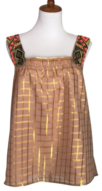 Preload https://img-static.tradesy.com/item/23579925/anthropologie-nude-with-gold-vineet-bahl-thread-blouse-size-10-m-0-1-650-650.jpg