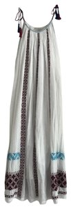white, dark red, and blue Maxi Dress by Ulla Johnson
