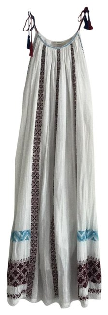 Item - White Dark Red and Blue Siran Sundress Mid-length Casual Maxi Dress Size 10 (M)