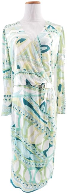 Preload https://img-static.tradesy.com/item/23579965/emilio-pucci-white-mint-and-green-printed-ruche-mid-length-night-out-dress-size-14-l-0-3-650-650.jpg