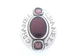 Chanel Chanel purple color poured glass pin brooches