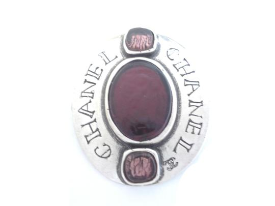 Preload https://img-static.tradesy.com/item/23580012/chanel-purple-poured-glass-silver-color-brooches-pin-0-0-540-540.jpg