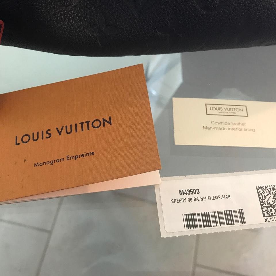 464052d69c92 Louis Vuitton Speedy Style  M43503 Navy with Red Piping Cowhide ...