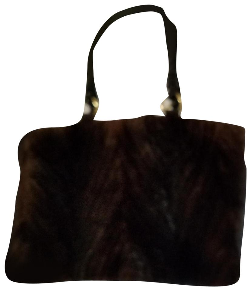 Paolo Masi Tote In Brown Fur And Leather Made Italy With Braided Straps