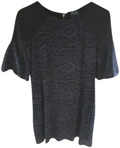 Gabby Skye short dress Blue and black Lace Cold-shoulder Type on Tradesy