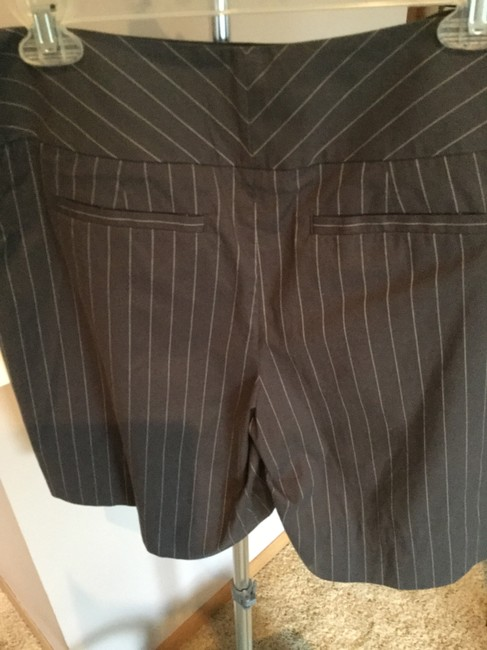 CAbi Dress Shorts Grey with white pinstripes