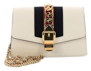 b6a0bb6085a Added to Shopping Bag. Gucci Crossbodybag Leather Cross Body Bag. Gucci  Sylvie Super Mini Off-white ...