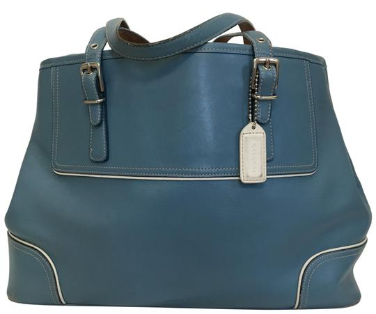 Preload https://img-static.tradesy.com/item/23580235/coach-hamptons-with-piping-detail-blue-leather-tote-0-3-540-540.jpg