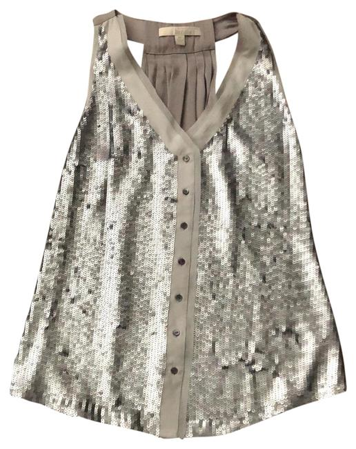 Preload https://img-static.tradesy.com/item/23580249/banana-republic-taupe-gray-silver-sequins-heritage-tunic-size-2-xs-0-1-650-650.jpg