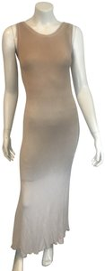 MUSHROOM BEIGE Maxi Dress by Illia Dip Dye Fitted