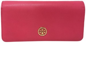 Tory Burch Tory Burch Robinson Pink Envelope Saffiano Leather Wallet