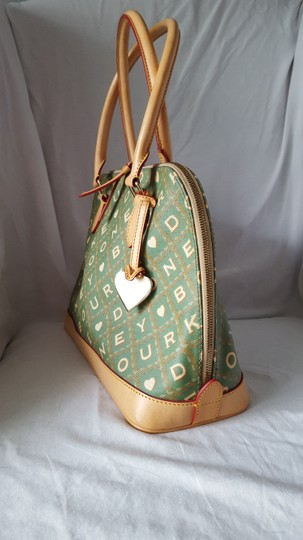 Dooney & Bourke Satchel in Green and Tan