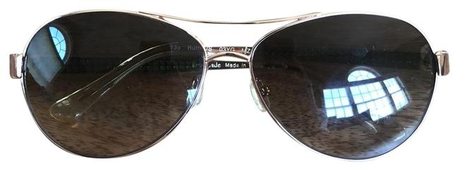 """Item - Rose Gold with Green Detail On Sides """"ruthie"""" Sunglasses"""