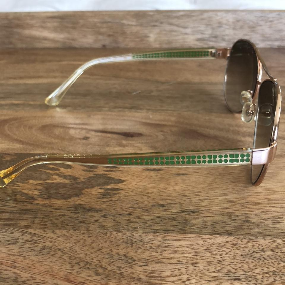 "98da6f5db Kate Spade Rose Gold with Green Detail On Sides ""ruthie"" Sunglasses -  Tradesy"