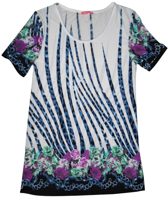 Preload https://img-static.tradesy.com/item/23580453/ivory-blue-black-purple-green-abstract-zebra-cheetah-floral-short-sleeved-fancy-blouse-size-6-s-0-1-650-650.jpg