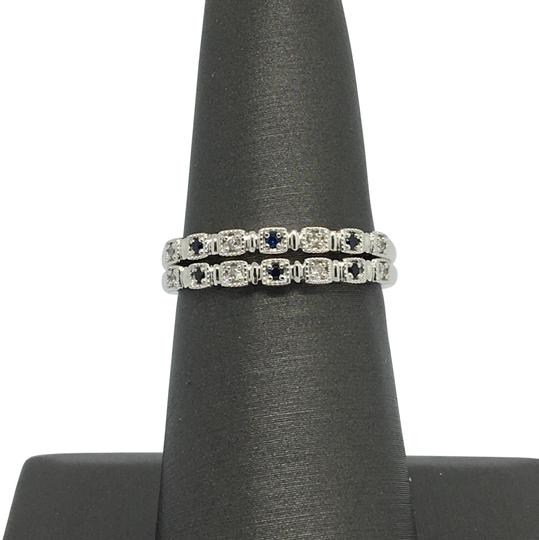 Preload https://img-static.tradesy.com/item/23580462/14k-white-gold-natural-genuine-diamond-and-sapphire-stackable-ring-0-2-540-540.jpg