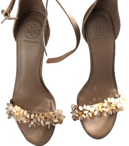 Tory Burch Bead Satin Rose Sandals