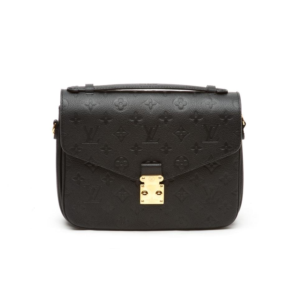 bcf4959d8614 Louis Vuitton Pochette Monogram Empreinte Metis Black Leather Cross ...