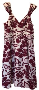 Chadwicks short dress maroon and white floral on Tradesy