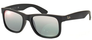 Ray-Ban Ray Ban Unisex Sunglasses RB4165 622/6G Black Frame Silver Mirror Lens