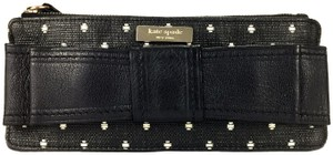 Kate Spade Leather Casual Night Night Out Polka Dot Wristlet in Black
