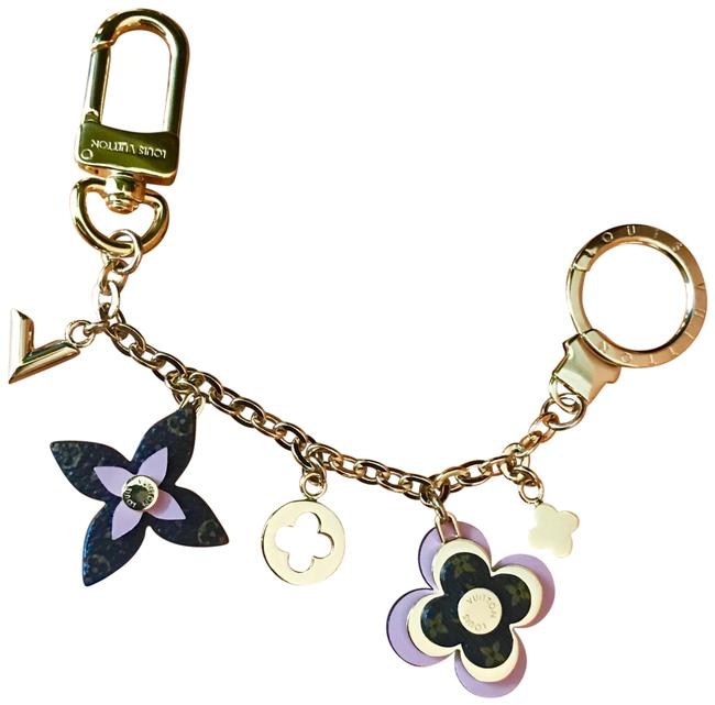 Item - Pink Brown Gold Flower Chain