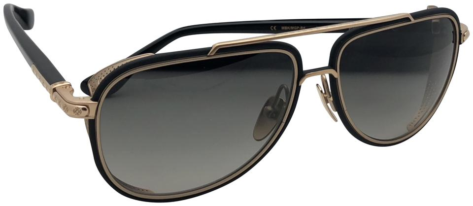 6e34451ea9e7 Chrome Hearts New CHROME HEARTS Sunglasses PREYANK MBK MGP-BK Matte Black  Gold Frame ...