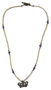 Mignon Faget pearl and amethyst necklace