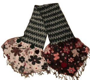 Rising Tide Rayon embroidered scarf