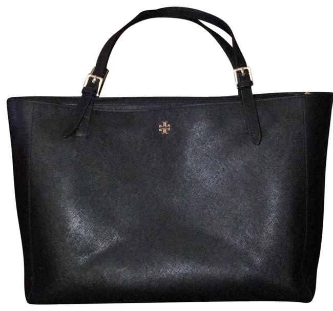 Item - York Laptop Great Condition Black with Gold Hardware Leather Tote