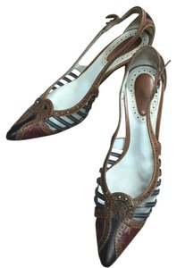 Bottega Veneta Luxury Brown Vintage Mixed Brown Pumps