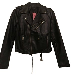 Blush black Leather Jacket